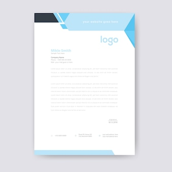 Abstract blue letterhead