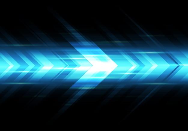Abstract blue light arrow speed power technology futuristic background