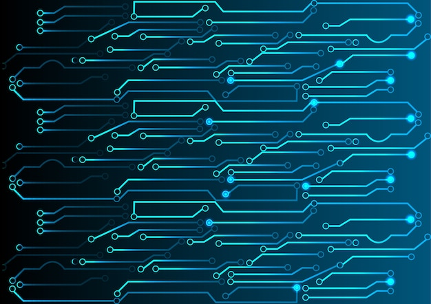 Abstract blue light circuit background