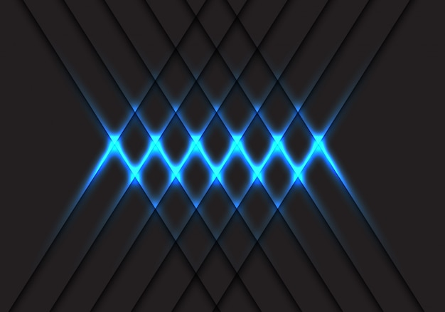 Abstract blue light cross pattern on grey design modern futuristic technology background vector illustration.