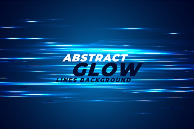 Abstract blue light effect glows background