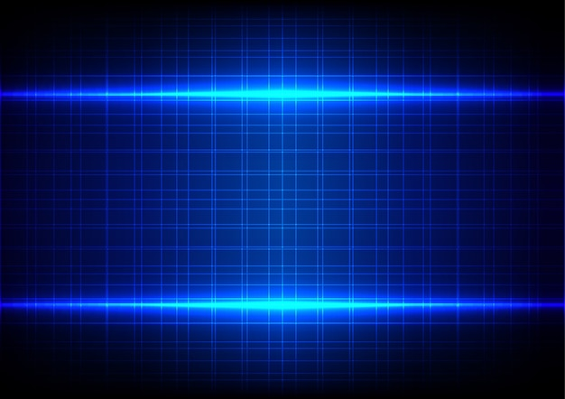 抽象的な青い光の効果の表のパターンの背景