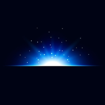 Abstract blue light effect vector background