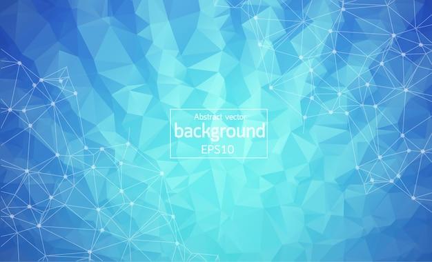 Abstract blue light geometric polygonal background