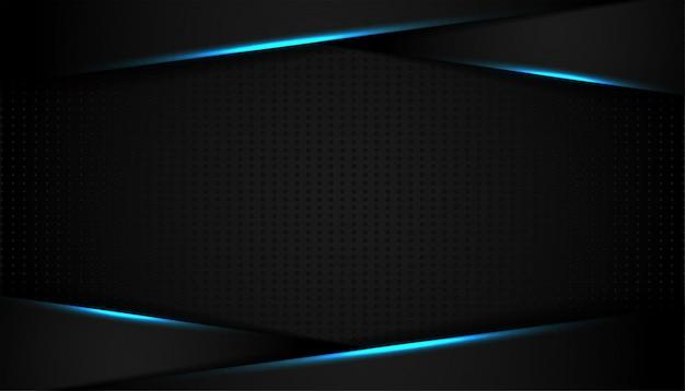 Абстрактная синяя световая линия на черном фоне
