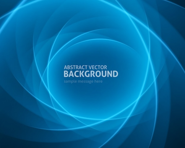 Abstract blue light lines modern background