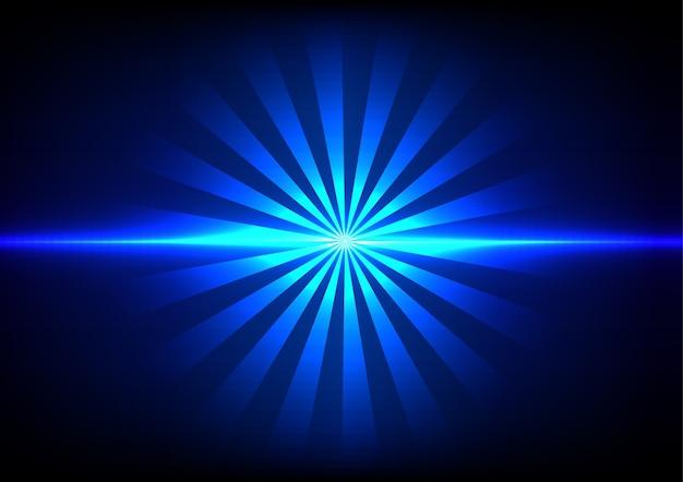 Abstract blue light sunlight effect background