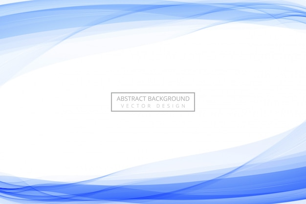 Abstract blue line flowing blue wave background