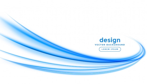 Abstract blue line streak wave background design