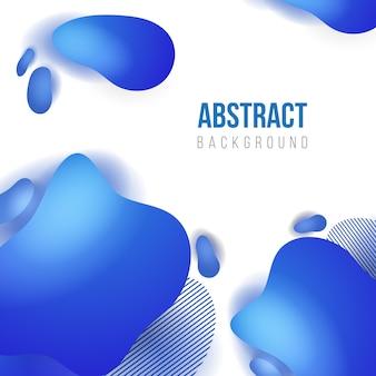 抽象的な青い液体背景テンプレート