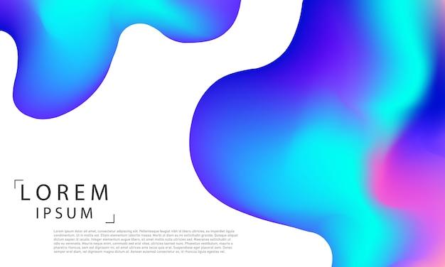 Абстрактный синий жидкий градиент фона экология концепция