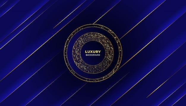 グローハーフトーンパターンと抽象的な青い豪華な背景