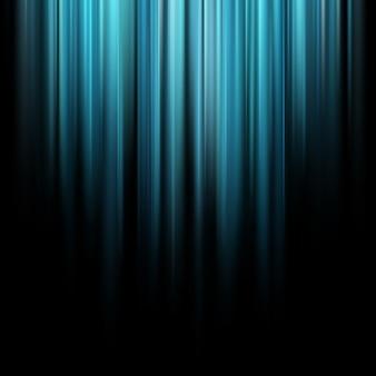 Абстрактные синие магические световые лучи на темном фоне.