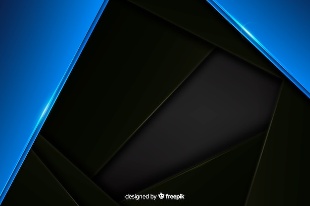 Abstract blue metallic background with reflection