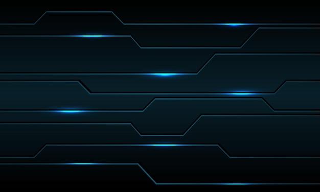 ライトパワー現代の未来的な技術の背景を持つ抽象的な青いメタリックブラックライン回路サイバー