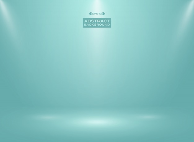 Abstract of blue mint color in studio room background