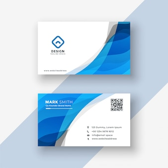 Abstract blue modern business card design
