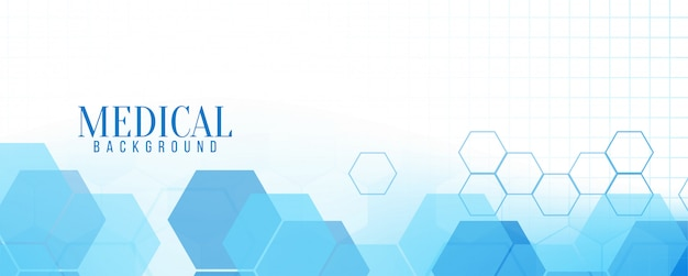 Abstract blue modern medical banner