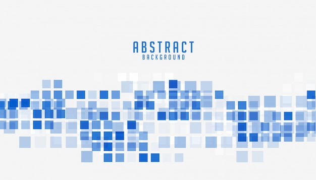 Abstract blue mosaic style business presentation background