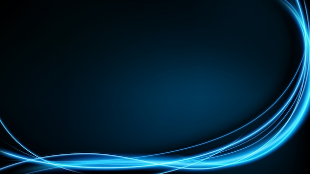 Abstract blue neon motion vector