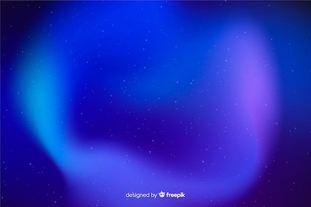 Abstract blue northern lights background