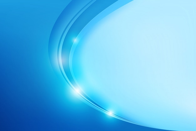 Abstract blue overlap and curve
