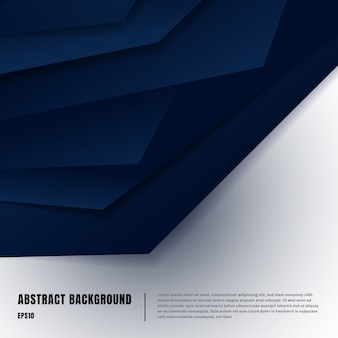 Abstract blue paper art style layout template