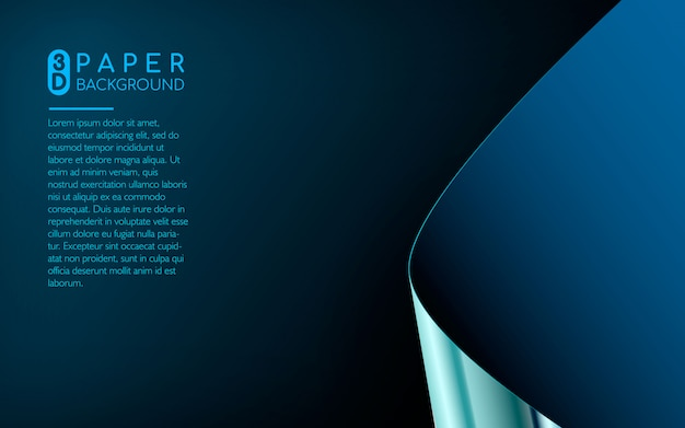 Abstract blue paper background