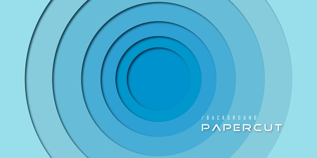 Abstract blue paper cut circle backgorund