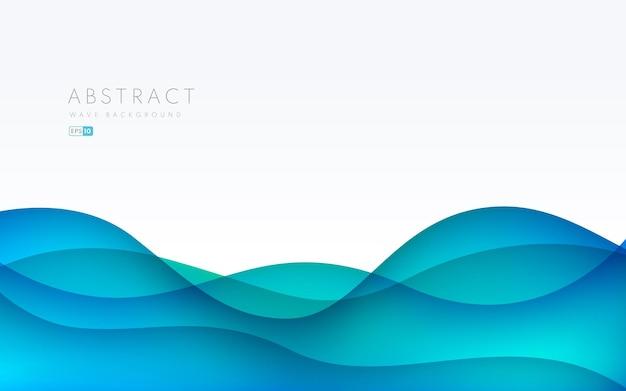 テキストスペースまたはコピースペースで抽象的な青い紙カットレイヤーの背景。