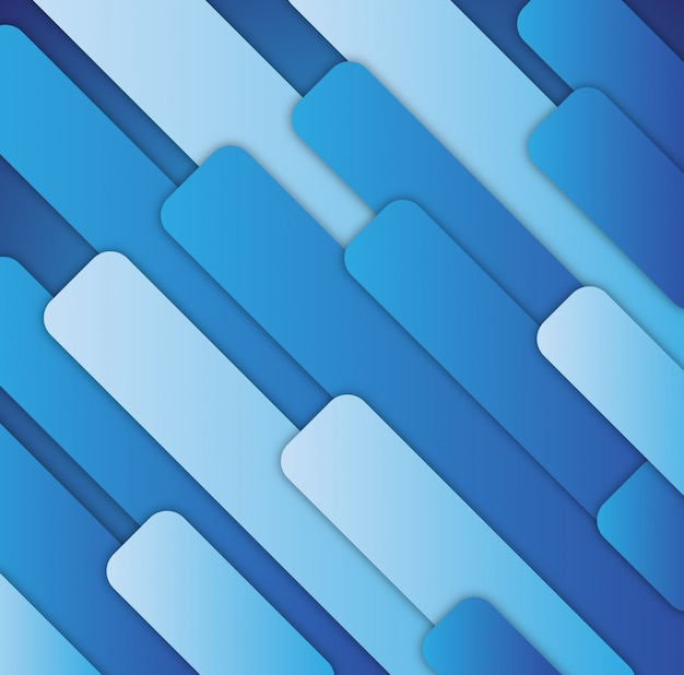 Abstract blue paper rectangle shapes background.