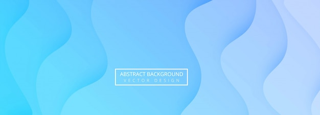 Abstract blue papercut wave template banner design