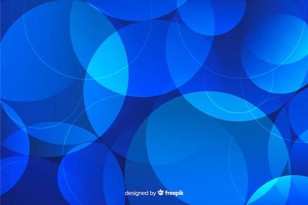 塵背景の抽象的な青い粒子
