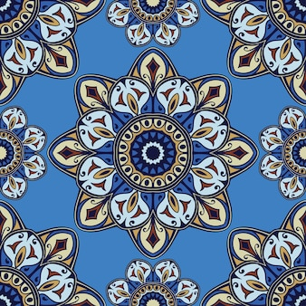 Abstract blue pattern for textile design