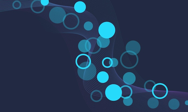 Abstract blue and pink gradient wave line with circle dot background. pattern for banner.