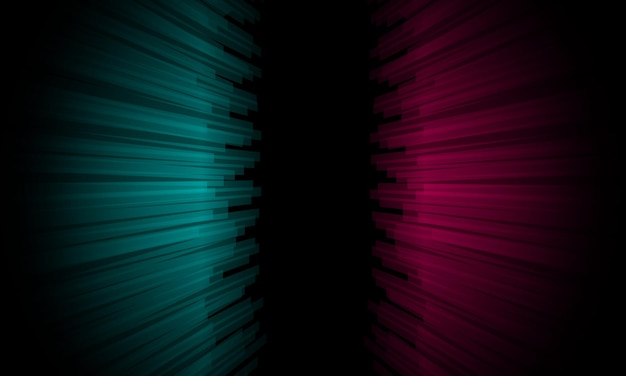 Abstract blue and pink perspective lines on black background. design for your wallpaper.