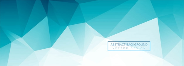 Abstract blue polygon banner design