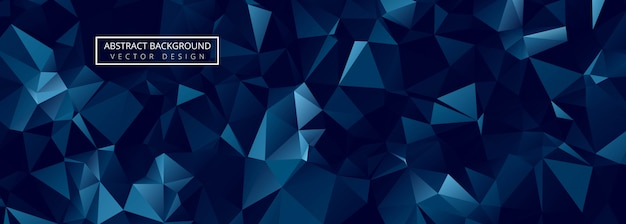 Abstract blue polygon banner template design