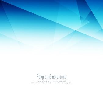 Abstract blue polygon design elegant background