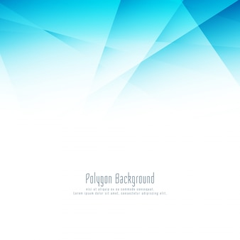 Abstract blue polygon modern design background