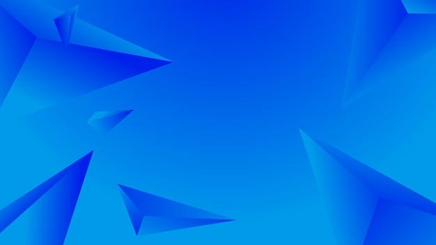 Абстрактный синий многоугольник на градиентный фон.