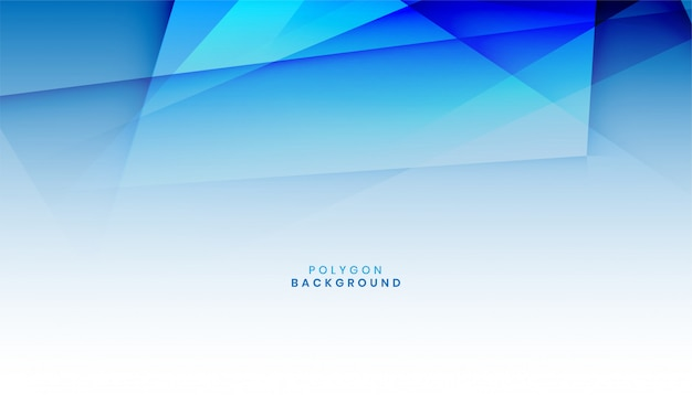 Abstract blue polygon shape background