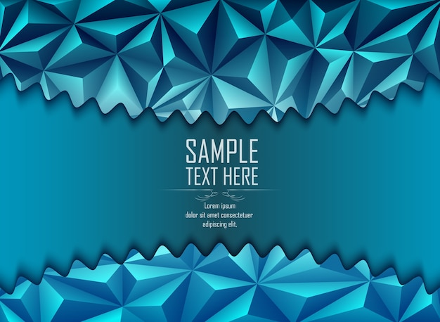 Abstract blue polygonal background with space for text
