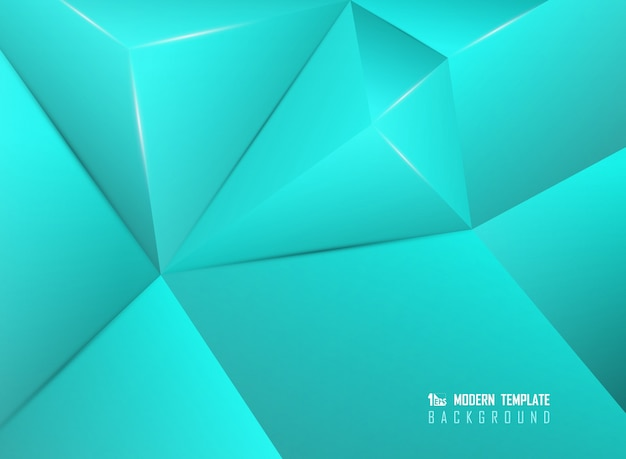 Abstract blue polygonal design artwork decorative pattern background.