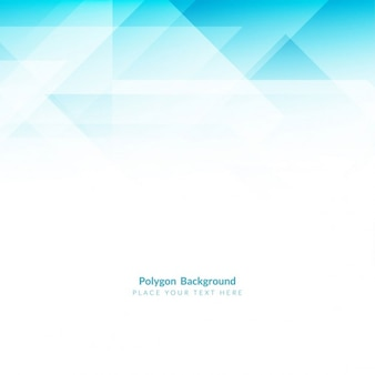 Abstract blue polygonal shape background