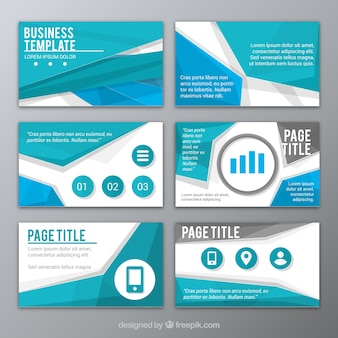 Abstract blue presentation template
