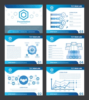 Abstract blue presentation templates