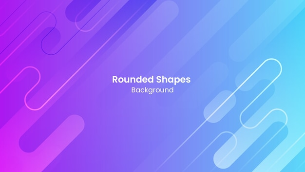 Abstract blue and purple rounded shapes background