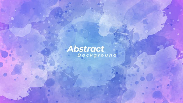 Abstract blue and purple watercolor background.