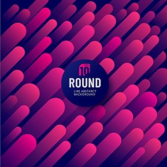抽象的な青赤とピンクの幾何学的な丸みを帯びた線斜めの動的な重なり合う背景。